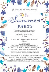 ALAF Summer Party Flyer