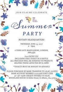 ALAF Summer Party Flyer